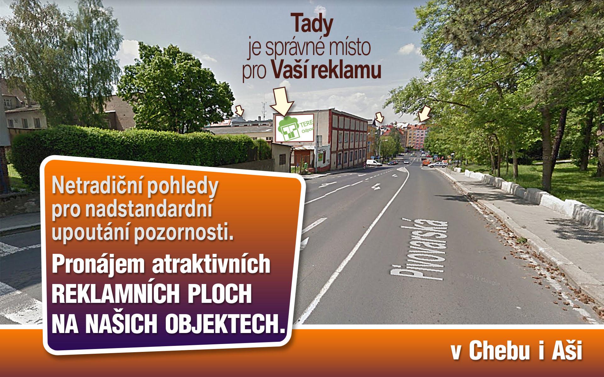 Pronájem reklamních ploch na objektech TEREA Cheb s.r.o.